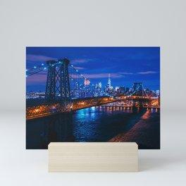 Popular Overpass New York City Beautiful Citylights United States Ultra High Res Mini Art Print
