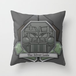 The Silver Lode Throw Pillow