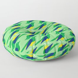 Rufous-bellied thrush - Brazil national symbol, flag colors Floor Pillow
