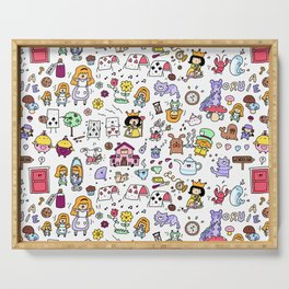 Alice in Doodleland Serving Tray