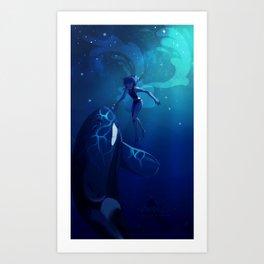 Lapis Ocean Art Print
