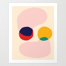happy shapes Art Print