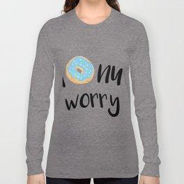 Donut Worry Blue Long Sleeve T-shirt