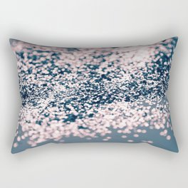 Sparkling BLUE PINK Lady Glitter #1 #shiny #decor #art #society6 Rectangular Pillow