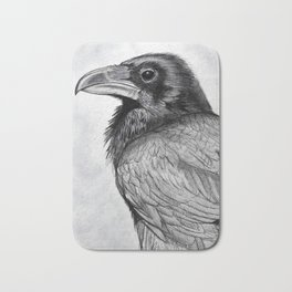 Corvus Corax (The Common Raven) Bath Mat