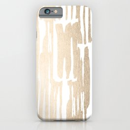 White Gold Sands Bamboo Stripes iPhone Case