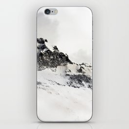 SNOWY - MOUNTAINS - PHOTOGRAPHY - WHITE iPhone Skin