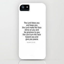 Numbers 6 24 #bibleverse #scriptures #blessing iPhone Case