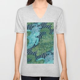 sea turtles Unisex V-Neck