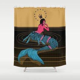 Mermaid Sashimi Shower Curtain