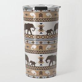 Boho animals | Elephants tan Travel Mug