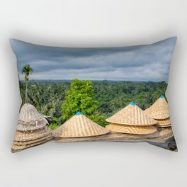 Holiday, alien lands, island, travel, bali, indonesia, palm trees Rectangular Pillow