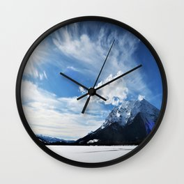 sunny day in the mountains Wall Clock