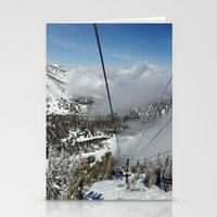 skiing Stationery Cards featuring Skiing by Bryden McDonald