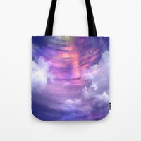 blur Tote Bags featuring Blur by Stacey Cat