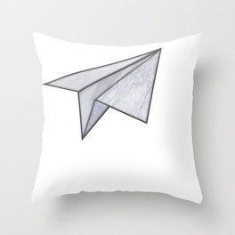 Marbelous plane Throw Pillow