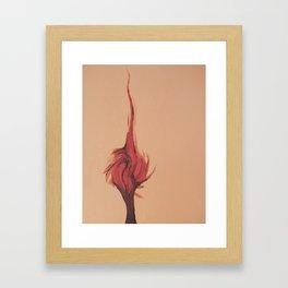 Flaming Tree Framed Art Print