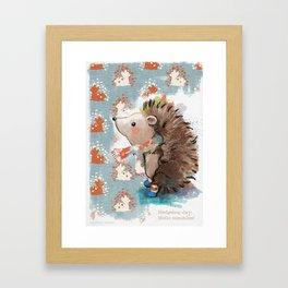 Hedgehog day Framed Art Print