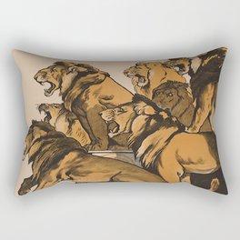 Lion tamer poster - Adolph Friedländer - 1919 Rectangular Pillow