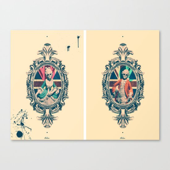 Bourgeoisie Man and Woman Canvas Print