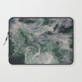 Ocean Waves Ariel View | Sea | Water Photography Laptop Sleeve