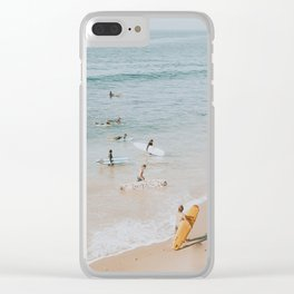 lets surf iii Clear iPhone Case