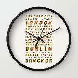 Travel World Cities Wall Clock