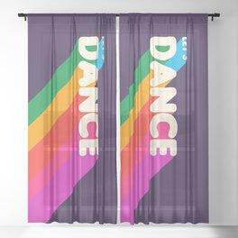 RAINBOW DANCE TYPOGRAPHY- let's dance Sheer Curtain