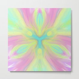 Sacred Heart Digital kaleidoscope Art Metal Print