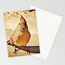 Ms. Cardinal Casting a Long Shadow Stationery Cards