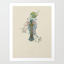 Celtic Initial I Art Print