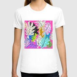 Leafs collage design T-shirt