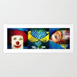 Coney Island x 3 Art Print
