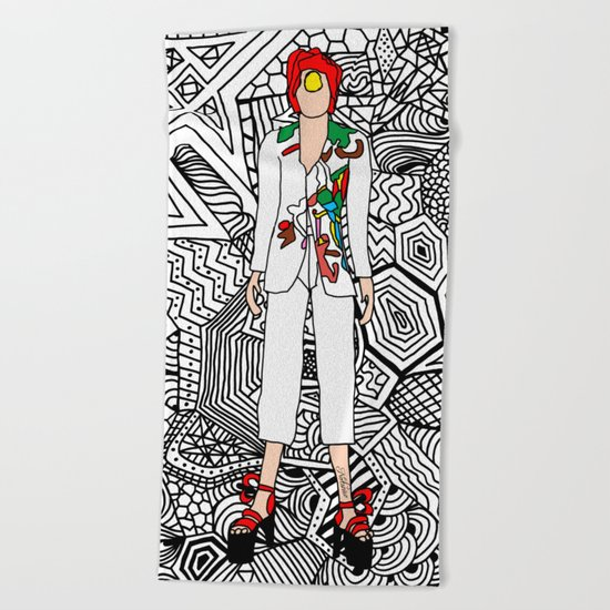 Bowie Fashion 7 Beach Towel