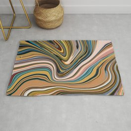 Marble Marbled Abstract Paint XCIV Rug