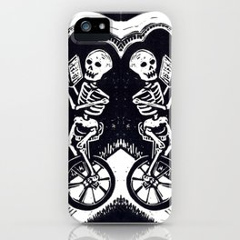 Unicycle Skeletons iPhone Case