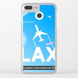 LAX Los Angeles airport Clear iPhone Case