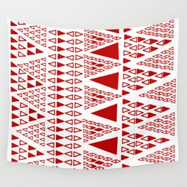 Zig Zag Pattern -  brick red Wall Tapestry