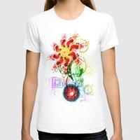 techno T-shirts featuring Techno Flower by Andrew Sebastian Kwan