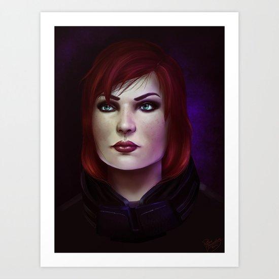 Mass Effect: Commander Shepard Art Print