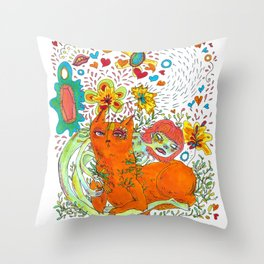 Noodle and Pony relaxing Throw Pillow