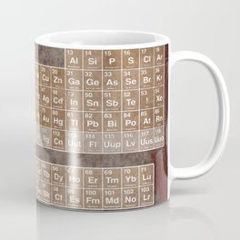 Tableau Periodiques Periodic Table Of The Elements Vintage Chart Science Coffee Mug