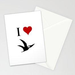 I Love Dinosaurs - Pterodactyl Stationery Cards