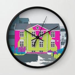 Reykjavik Boulevard #13 Wall Clock