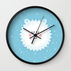 Sleeping Polar Bear Wall Clock