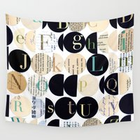alphabet Wall Tapestries featuring Alphabet by maria carluccio