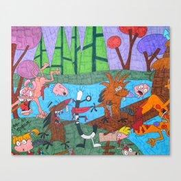 Mature Nick Toons Horror Canvas Print