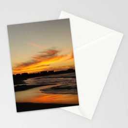 Golden Sunset Stationery Cards