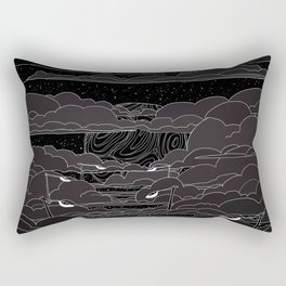 white ink 04 - city in the sky Rectangular Pillow