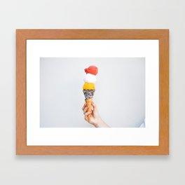 Stacked Gelato Framed Art Print